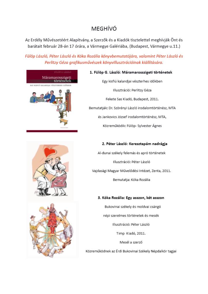 Máramarosszigeti történetek könyvbemutató (PDF)